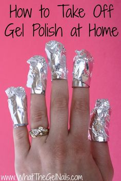 How to take off gel polish at home.