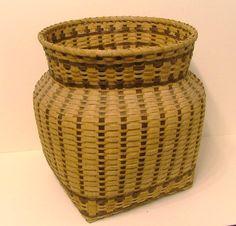 Genuine CHEROKEE INDIAN BASKET. hand woven..Original