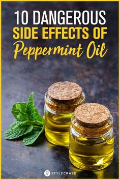 10 Side Effects Of Peppermint Oil: Peppermint oil is well admired for the calming benefits it renders. But, have you ever thought that it can also cause side effects. Here is a list of the side effects of peppermint oil could possibly have on your health. Peppermint Oil Benefits, Peppermint Oil Uses, Peppermint Plants, Peppermint Tea, Peppermint Patties, Non Organic, Organic Oil, Organic Essential Oils, Essential Oil Blends