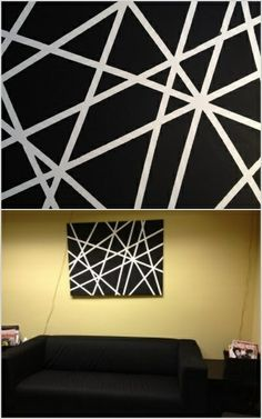 Canvas and scotch tape. Great craft for kids. My 4 year old and two almost 18 month olds had a blast making this.  My husband, sister in law and I made one as well. It was so fun!