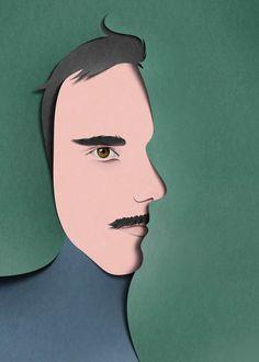 Face illusion illustration by Eiko Ojala