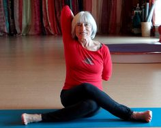 """This pose is great for opening the shoulders and stretching the outside of the hips. It's called """"Cow-Faced Pose"""" so you can have fun with it and """"moooo."""""""