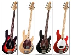 StingRay 4-string basses.