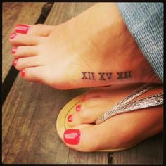 Phillip & I's wedding date in roman numerals. :) I love you hunny..And that little thing hurt like hell!!