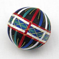 Temari Ball Japanese Thread Ball Ornament
