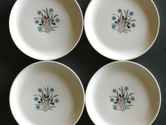 Mid Century Plates Bread Dessert by French by LadyfromShanghai, $15.00