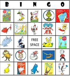 Dr Suess Bingo cards I made for my son's 6th bday party last year.  It was a silly sixth suessical birthday party!  email if you want the PDF's - I have 5 different cards. hyankovich1@gmail.com