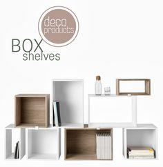 Box shelves, deco
