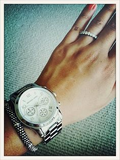 Michael Kors Oversized Runway Watch. Just got this watch and I LOVE it! It 051d37f831