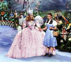 Glinda and dorothy...halloween costume inspiration for the girls