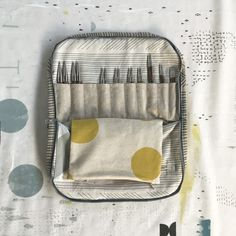 lesliekeating: freeform patchwork knitting needle case