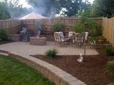 backyard - I like the step downs for a garden idea (maybe out of the cool rock) by Liya Banks