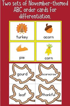 Check out this fantastic activity that helps students practice putting words in alphabetical order! This differentiated activity works great as a center activity, a stand alone activity, a collaborative table group activity or even can be sent home with families for some additional ABC order practice. #alphabeticalorder #elementary #vocabulary #wordwork #fall #November #Thanksgiving #center #teaching Literacy Games, Phonics Games, Holiday Activities, Activities For Kids, Thanksgiving Activities, Indoor Activities, Teacher Tools, Teacher Resources, Water Games For Kids