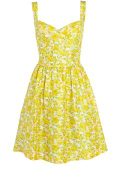 Sunny yellow floral dress... I'm in love <3