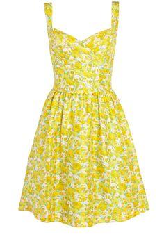 cute yellow floral sundress | Chic & Romantic | Pinterest | Summer ...