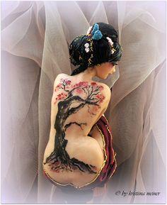 Sculpture OOAK Art Doll female figure Sakura by KristiinaMeiner
