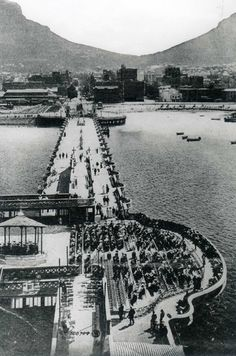size: Photographic Print: Promenade Pier at Cape Town, South Africa : Entertainment Old Pictures, Old Photos, Vintage Photos, Cape Town Holidays, City By The Sea, Cape Town South Africa, Most Beautiful Cities, Countries Of The World, Places To Go