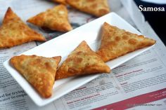 Samosas, generally we order as a tea time snack or as a starter for birthday parties . I have never attempted to make this at home as i always felt… North Indian Recipes, Indian Food Recipes, Vegetarian Recipes, Samosa Recipe, Idli Recipe, Potato Recipes, Baby Food Recipes, Cooking Recipes, Savoury Recipes