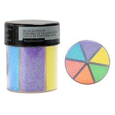 This convenient glitter caddy contains six bright neon colors that will give projects texture and dimension, perfect for embellishing paper crafting projects, party décor, apparel crafts and more. Neon Purple, Neon Colors, Neon Green, Elmer's Clear Glue, Challenges To Do, How To Make Slime, Color Crafts, Michael Store, Shaker Cards