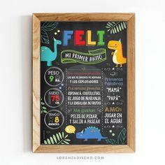 """15 Me gusta, 4 comentarios - LORENZA DISEÑO (@lorenzadiseno) en Instagram: """"Infografía pizarra de recuerdo!💛 . Cartel con los datos divertidos y anecdóticos del primer año del…"""" Instagram, First Year, Chalkboard, Salads, Poster"""