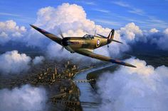 This wonderful edition by Mark Postlethwaite's depicts Supermarine Spitfire P8045 'City of Worcester ' over the 'Faithful City' on its production test flight in 1941. The original painting is in Dilip Sarkar's collection.