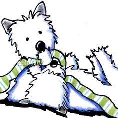 Original Westie Terriers ACEO Dog Art
