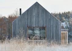 31 Ideas For Exterior House Cladding Cabin Modern Barn, Modern Farmhouse, Modern Cabins, Small Modern Houses, Small Modern Cabin, Modern Wooden House, Small Wooden House, House Cladding, House Facades