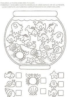 Crafts,Actvities and Worksheets for Preschool,Toddler and Kindergarten.Lots of worksheets and coloring pages. Preschool Learning, Kindergarten Worksheets, Preschool Activities, Teaching, Learning Skills, Number Worksheets, Early Learning, Hidden Pictures, Math For Kids