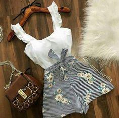 35 new Ideas moda femenina outfits ideas bags Cute Summer Outfits, Girly Outfits, Trendy Outfits, Casual Summer, Jean Outfits, Sweater Outfits, Simple Outfits, Summer Clothes, Summer Dresses