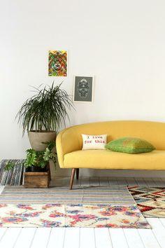 Layla Sofa Urbanouters Yellow Furniture Styles Modern Apartment