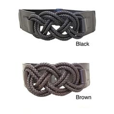 @Overstock - This statement belt is inspired by sailing knots with a unique fresh look. The chic stretch fabric is accented with faux leather tabs for a look that's altogether eye-catching.http://www.overstock.com/Clothing-Shoes/Womens-Braided-Knots-Stretch-Designer-Belt/7411576/product.html?CID=214117 $19.99