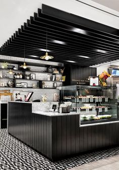 Discover thousands of images about Belmonte Raw Exchange Tower- Green Tangerine Design Coffee Bar Design, Coffee Shop Interior Design, Boutique Interior Design, Restaurant Interior Design, Coffee Shop Counter, Cafe Counter, Coffee Shop Bar, Coffee Coffee, Coffee Drinks