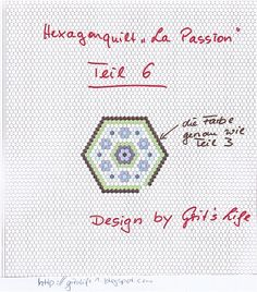 "Grit's Life: 6 Part Hexagon Quilt ""La Passion"""