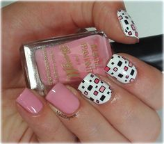 Pink squares on nails