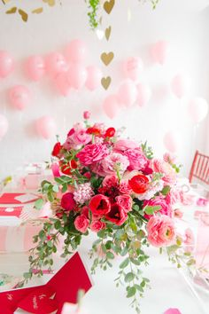Galentine's Day party: http://www.stylemepretty.com/living/2015/02/11/a-galentines-soiree/ | Photography: Abby Jiu - http://www.abbyjiu.com/
