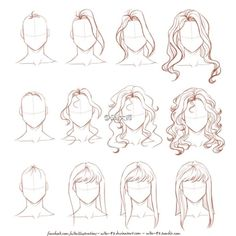 Ideas Fashion Drawing Tutorial Sketches Hair Reference For 2019 Drawing Techniques, Drawing Tips, Drawing Sketches, Painting & Drawing, Drawing Ideas, Drawing Style, Hair Styles Drawing, Long Hair Drawing, Sketch Ideas