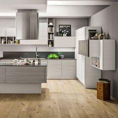 kitchen white and wood Home Decor Kitchen, Kitchen Interior, Interior Design Living Room, Best Kitchen Designs, Piece A Vivre, Kitchen Cabinet Design, Cuisines Design, Cool Kitchens, Home Remodeling