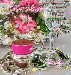 Coffee Images, Good Morning Good Night, Happy Day, Table Decorations, Home Decor, Beautiful, God Bless You, Imagenes De Amor, Decoration Home