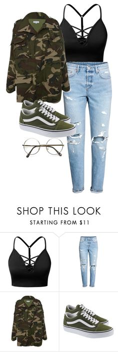 """""""Untitled #430"""" by andimjazzy on Polyvore featuring J.TOMSON, H&M and Vans"""