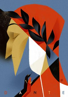 "/// riccardoguasco: "" Illustration for ID_Dante Riccardo Guasco 2016 "" Illustration Vector, People Illustration, Graphic Design Illustration, Graphic Art, Dante Alighieri, Small Drawings, Identity Art, Abstract Portrait, Illustrators"