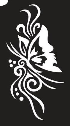 Big butterfly glitter tattoo stencil