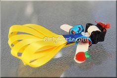 Snow White Ribbon Sculpture Hair Clip Princess Hair by GirlyKurlz, $7.97