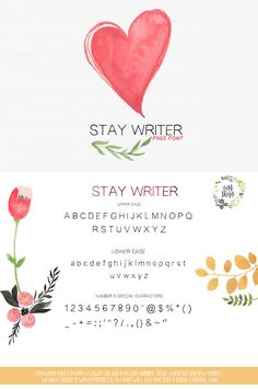 Stay Writer is hand drawn display #font, every single letters have been carefully crafted to make your text looks beautiful. It's With massive no of glyph. via @creativetacos