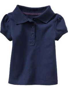 Girly polos for school uniforms at Old Navy.