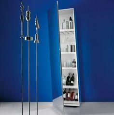 Multi-Purpose MDF Wall Cabinet With Super Mirror Door Finish - Clino by Pallucco