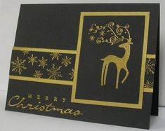 IC261 Gold Embossed Dasher by mnfroggie - Cards and Paper Crafts at Splitcoaststampers