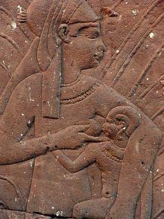 Egypt - Edfu: Isis and Horus.