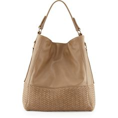 Neiman Marcus Wooster Woven Hobo Bag ($48) ❤ liked on Polyvore