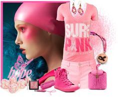 """""""Pink For October Contest"""" by natasha-gayden ❤ liked on Polyvore"""