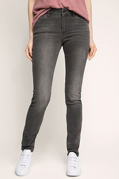 Esprit / Grijze stretchjeans  in used look